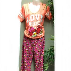 Other - ANGRY BIRDS SLEEP SET SUPER SOFT PANTS & JERSEY-T